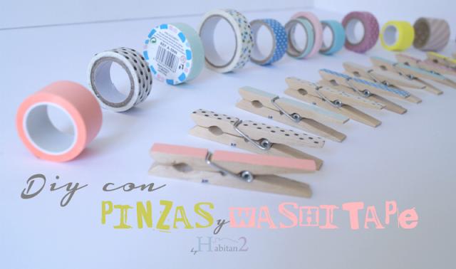Diy con pinzas y washitape by Habitan2