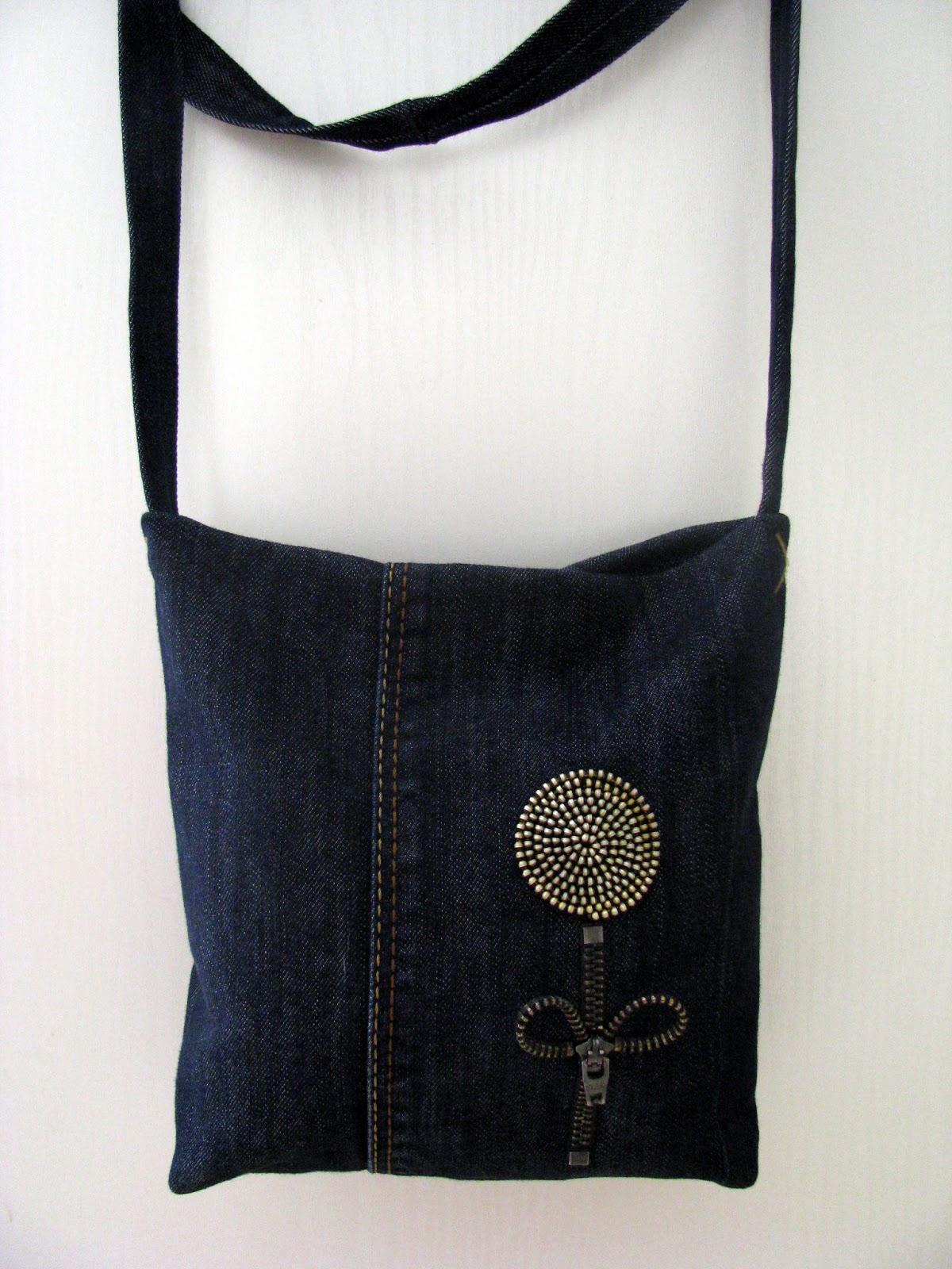 декор джинсовой сумки своими руками