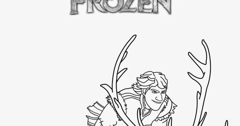 frozen coloring pages kristoff sven - photo#22