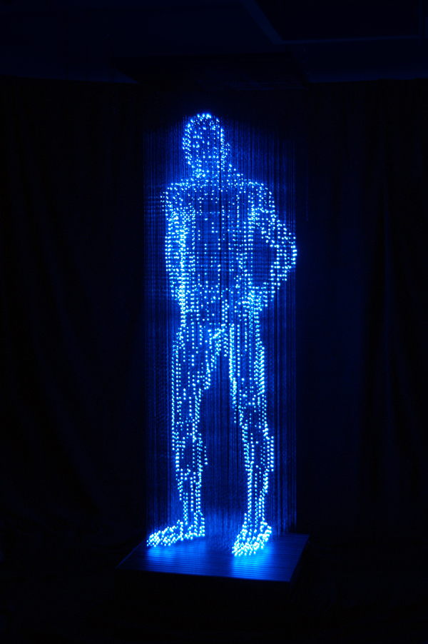 The Man With No Shadow Light Art By Makoto Tojiki