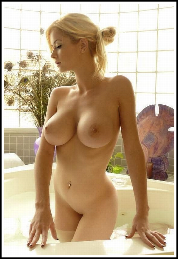 Hot blonde with perfect boobs