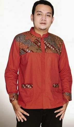 Contoh desain baju batik muslim modern