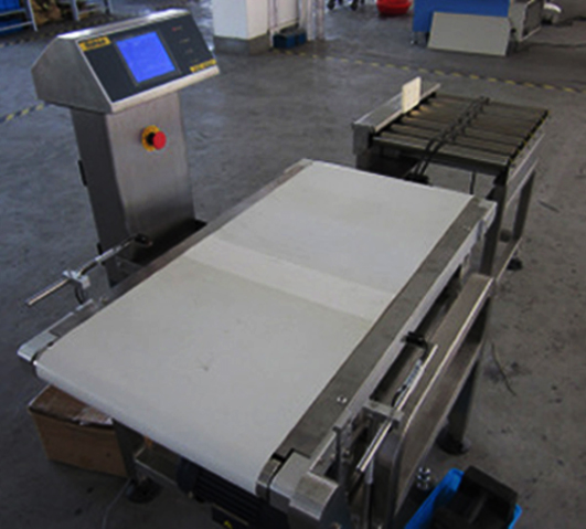 semi auto weight check detector machine for packaging&Gewichtskontrolle von Verpackungsindustrien 