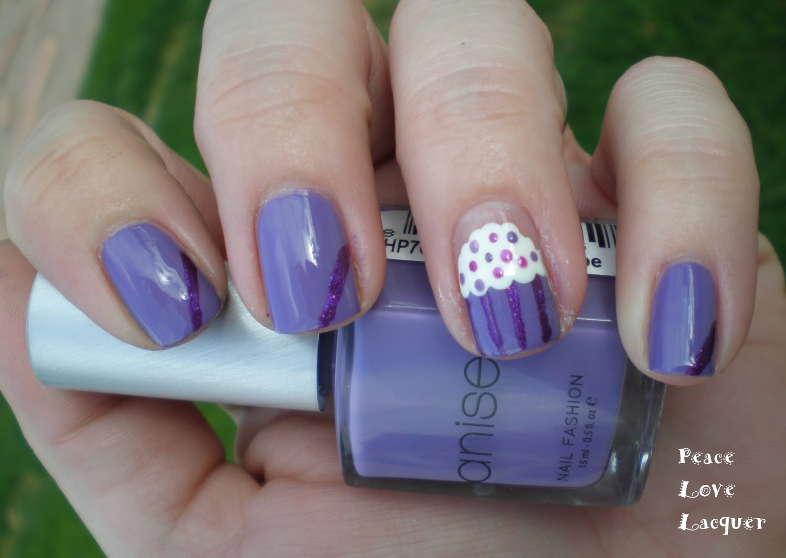 Nail art color violet - I Used Anise Grape Escape Reviewed Here And A Dark Violet Shimmer Polish From Color Club It Doesn T Have A Name One It I Bought It In A Collection Pack