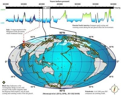 Polos magnéticos se invirtieron hace 41000 años Polos-magneticos-reversion-41000