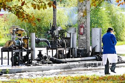 Sprādziena vieta Jelgavas naftas bāzē