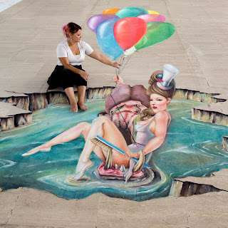 3D Realistic Street Painting Art Sample