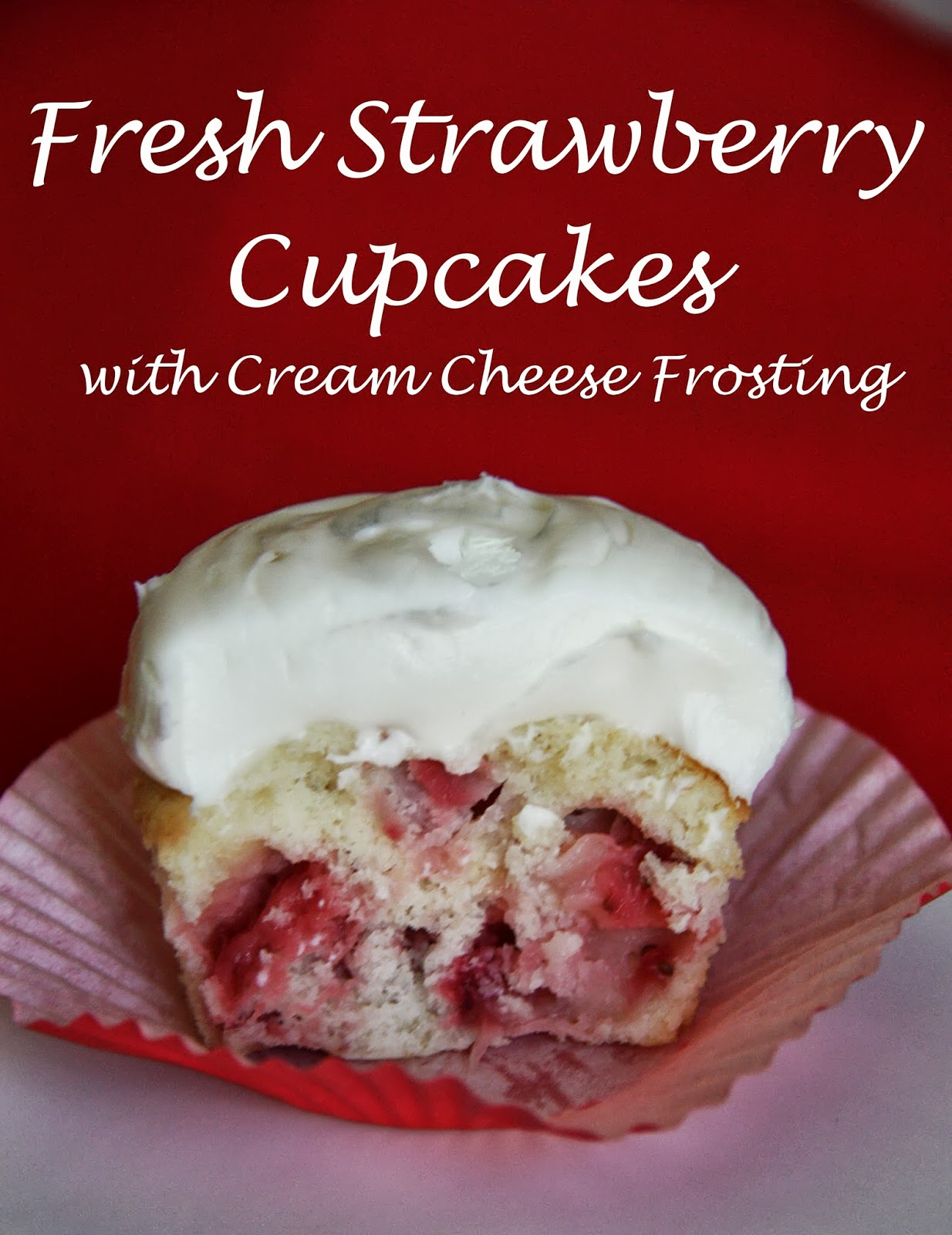 Fresh Strawberry Cupcakes Recipe