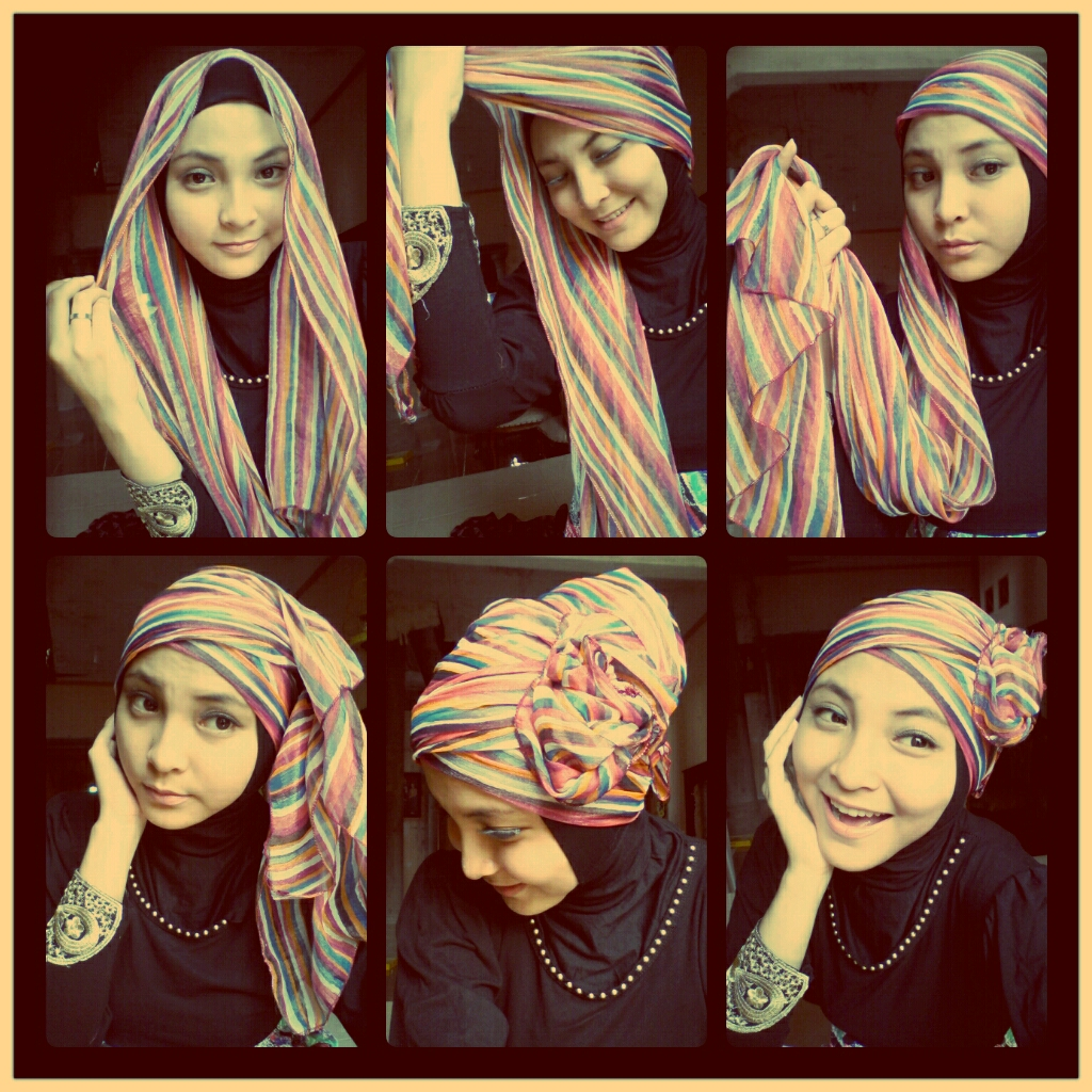 Foto Gambar Tutorial Cara Menggunakan Hijab Pashmina Untuk