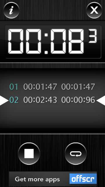 timer touch by offscreen
