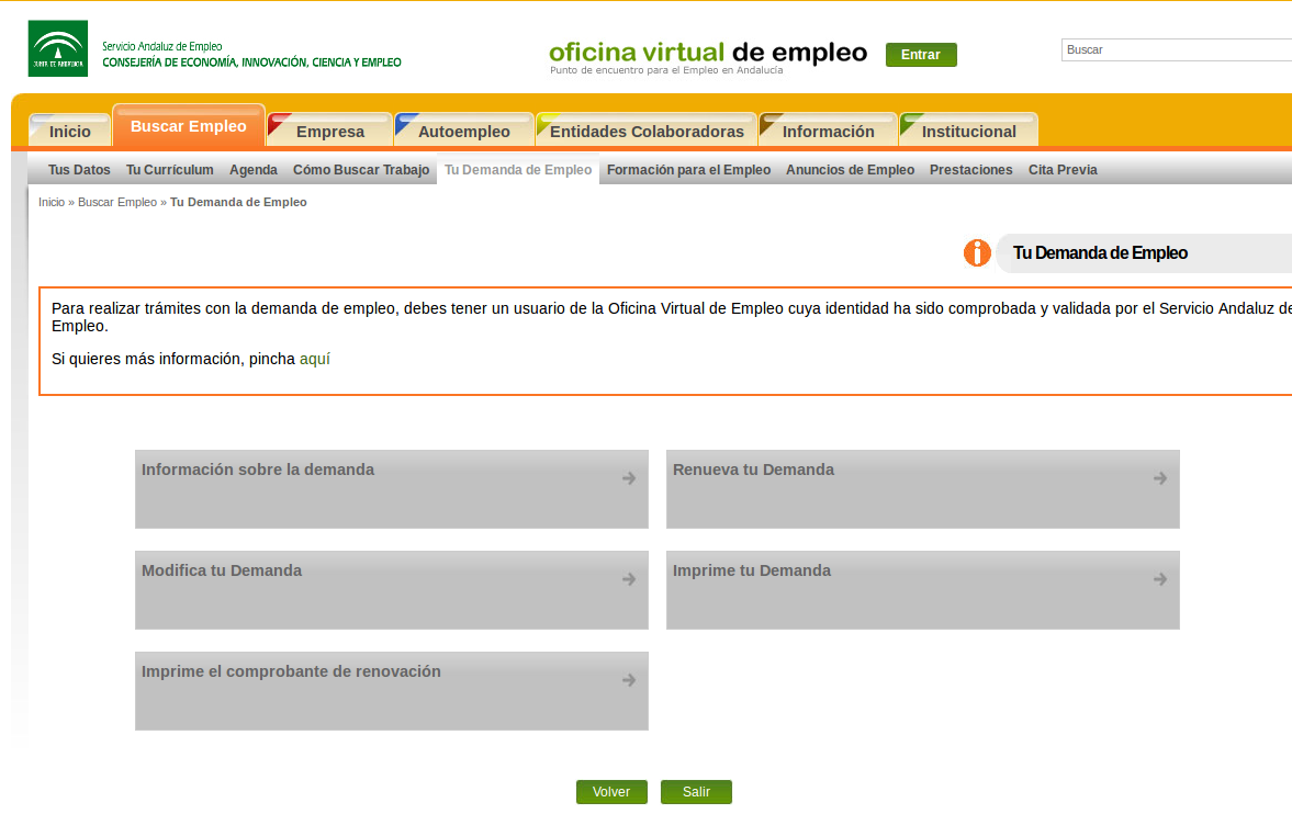 Inform tica para mayores del ceip la ina sellar el carnet for Oficina virtual paro