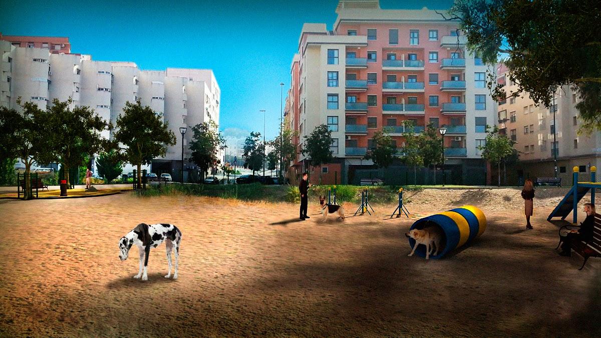Dise o 3d de parque canino m laga decoracion de - Decoracion de interiores malaga ...