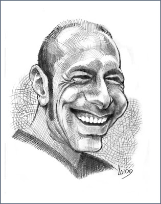caricature of an italian guy