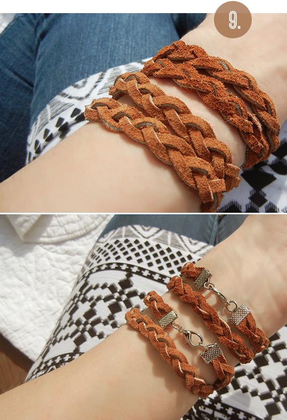 Living Creatively: DIY Tutorial >>> Braided Leather Wrap Bracelets