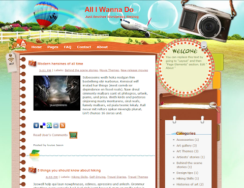 All I Wanna Do Blogger Theme