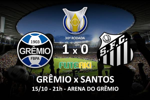 Veja o resumo da partida com o gol e os melhores momentos de Grêmio 1x0 Santos pela 30ª rodada do Brasileirão 2015.