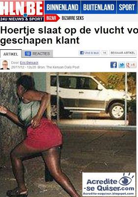Prostituta foge ao ver tamanho de pênis