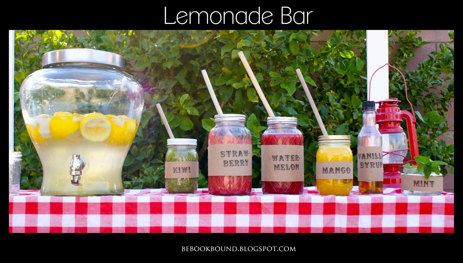 Be book bound little house on the prairie lemonade bar for Cool lemonade stand ideas