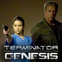 Arnold Schwarzenegger y Emilia Clarke en Terminator: Genesis