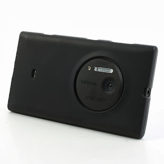 Frosted TPU Jelly Case for Nokia Lumia 1020 - Black