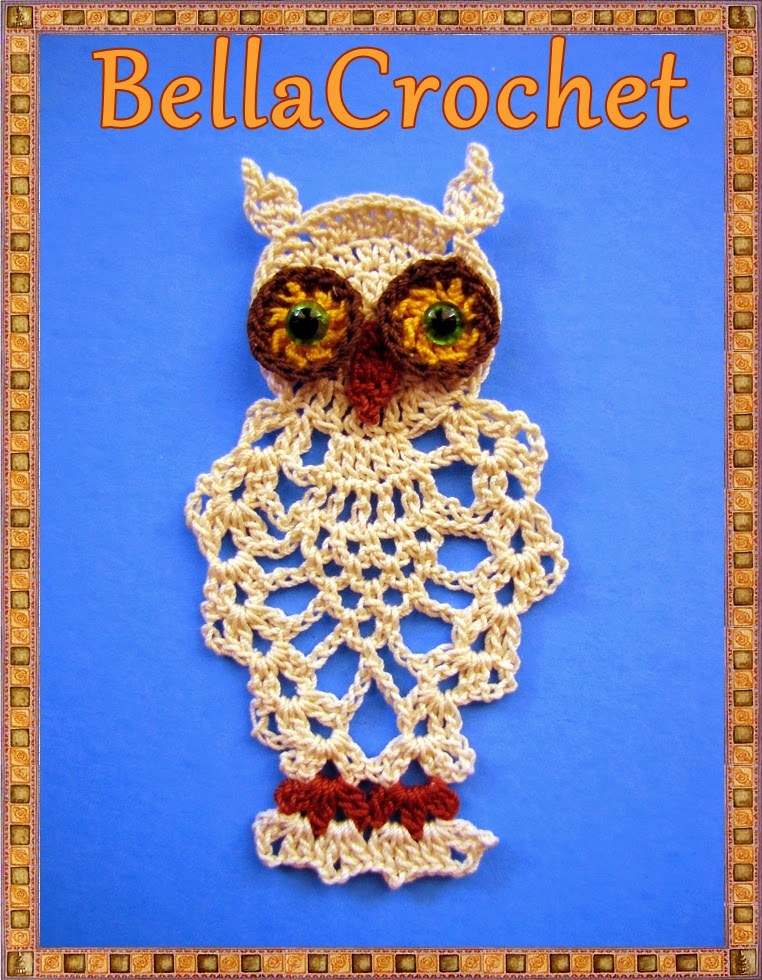 BellaCrochet: Pineapple Owl Ornament or Bookmark: A Free ...