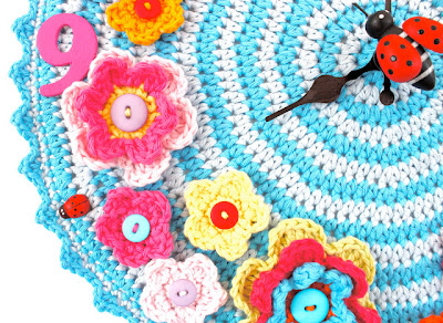 free crochet pattern clock
