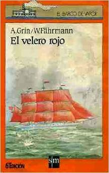 "Portada de ""El velero rojo"", de Alexandr Grin"
