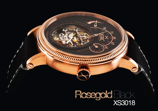 Xeric Xeriscope XS3018 Rose Gold & Black Watch