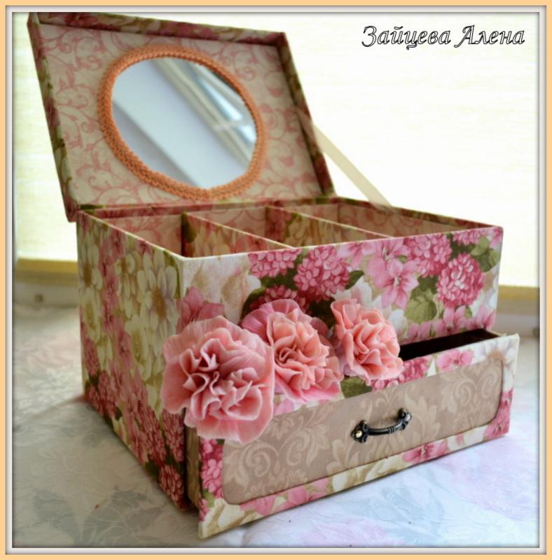 Что можно делать из коробки шкатулки