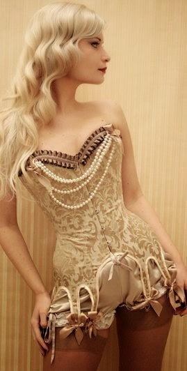 gold brocade corset