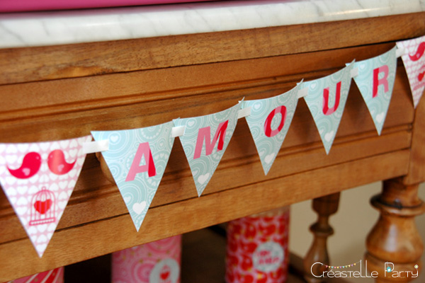 Valentine's day sweet table Saint-Valentin - Love Birds - bannière - banner