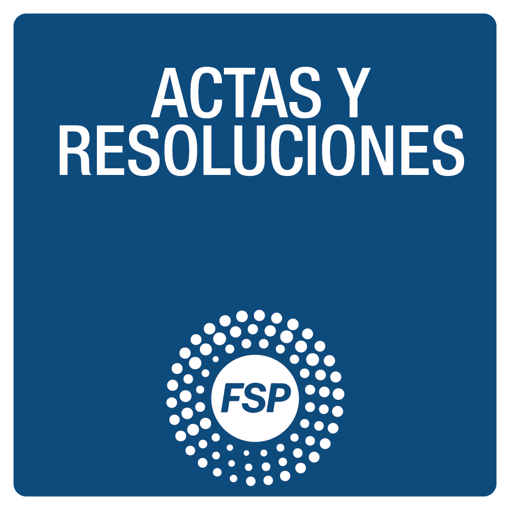 Actas y resoluciones