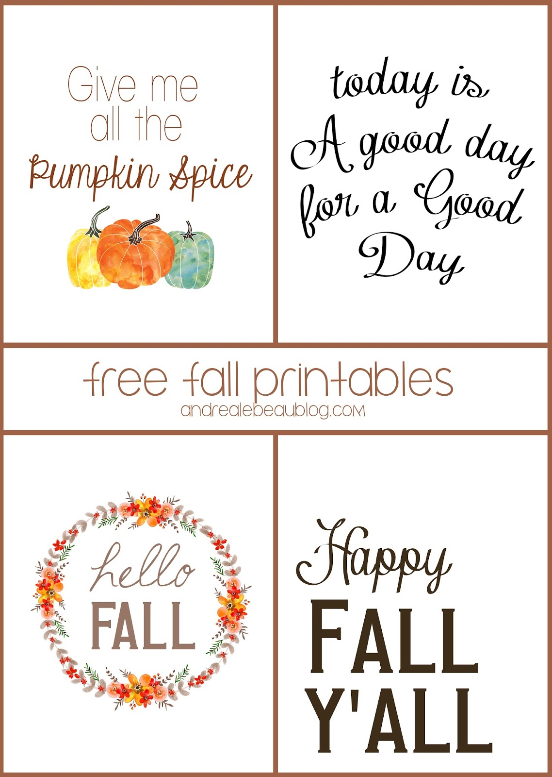 Amazing image in free fall printable