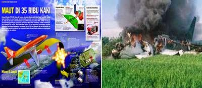Foto Kecelakaan Pesawat Adam Air Kecelakaan Adam Air