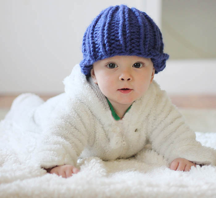 Easy Baby Beanie Knitting Pattern - Gina Michele
