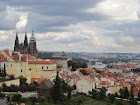 View of Prague Castle from Monastery Hill