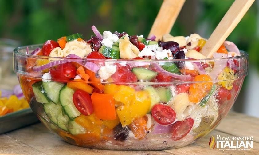 The Slow Roasted Italian - Printable Recipes: Greek Tortellini Salad