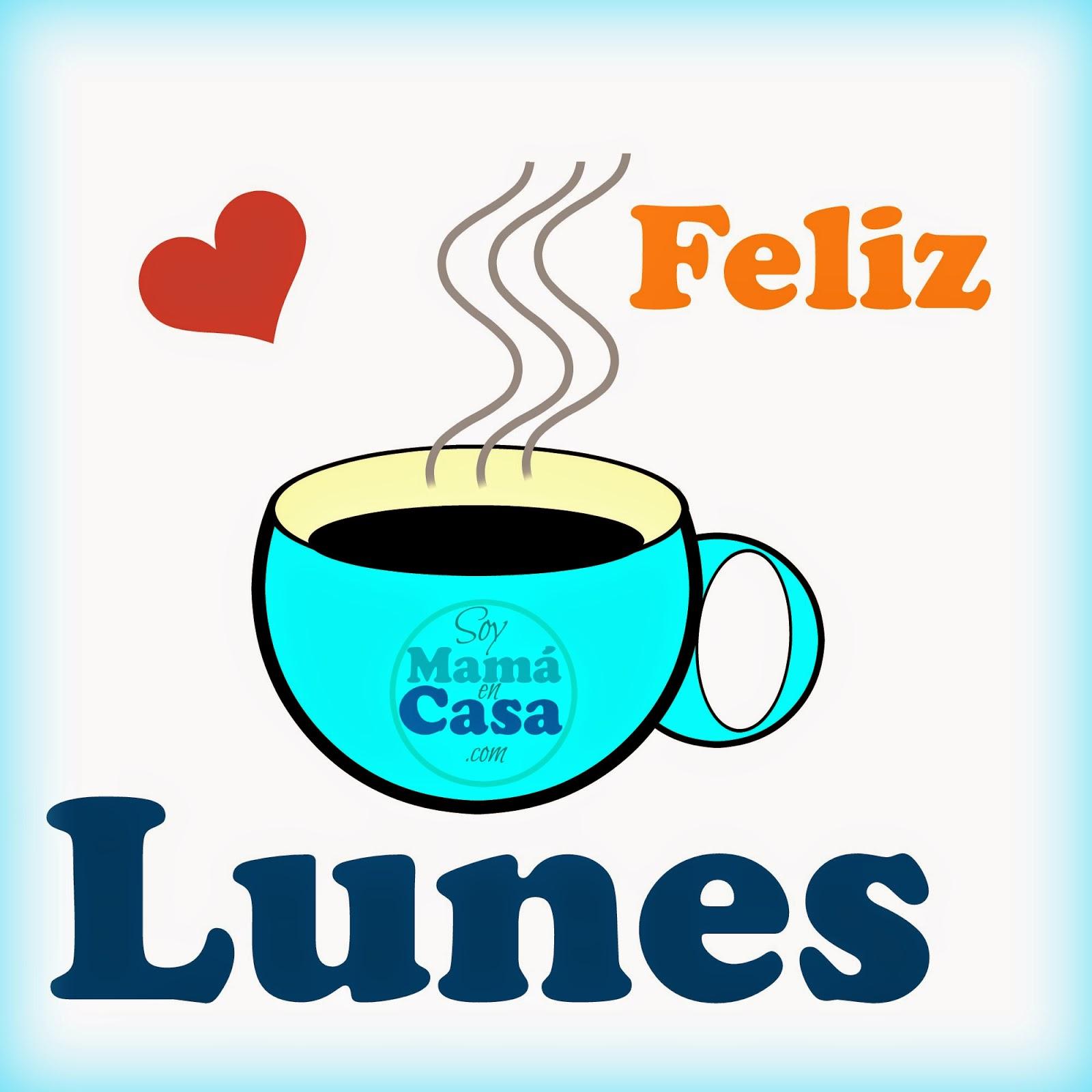 lunes, café, corazones