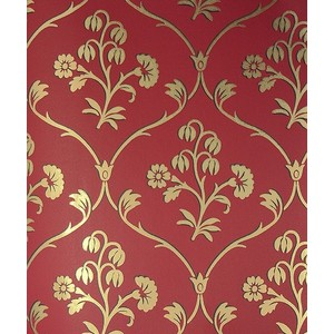 A stencil with a similar design could be used to make our wallpaper.