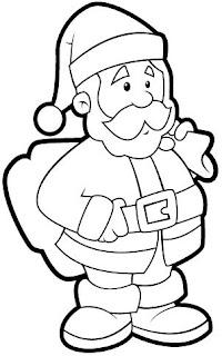 Santa Claus para colorear y pintar