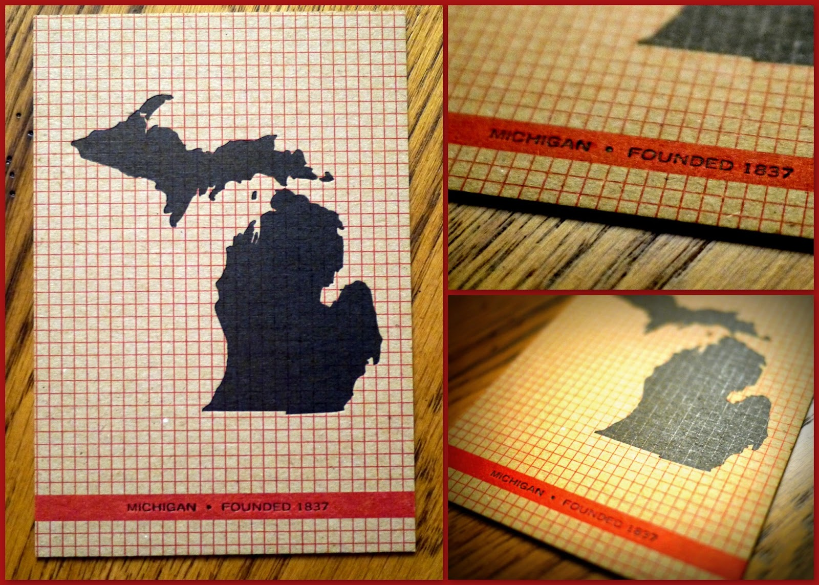 3 michigan graph post card made by hammerpress found in ann arbor i shelled out 4 for this card and it wasn t only because it had a map