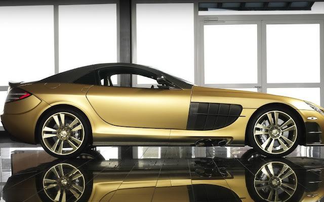 Imagenes del Mercedes-Benz SLR McLaren Dorado