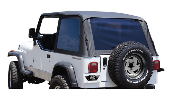 The R&age Frameless Trail Tops install over the original equipment factory roll bar for a snug fit without the need for additional bows or support ...  sc 1 st  R&age Products & Rampage Products: Now introducing the YJ Frameless Trail Top!