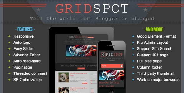 Grid Spot - Responsive Premium Blogger Template