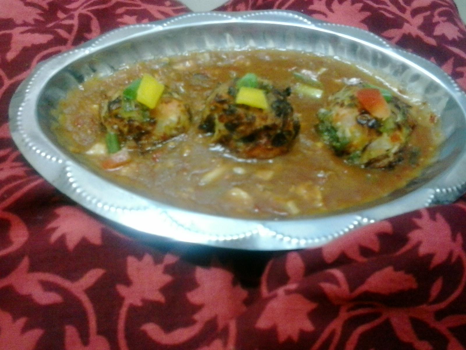 Veg Balls in Hot Garlic Sauce |Vegetable balls in schezwan sauce