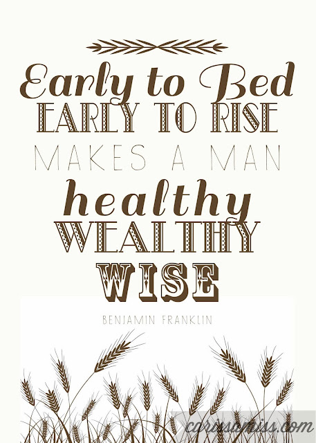 Carissa Miss: Early to Bed #freeprintable