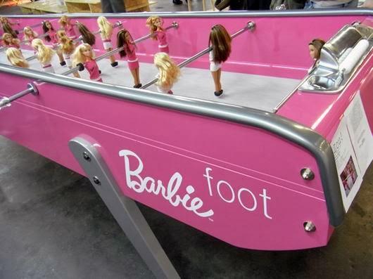 Bàn banh bàn Barbie búp bê