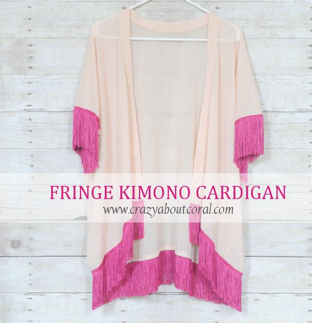 diy fringe kimono cardigan tutorial