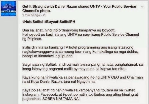 UNTV Razon vs Sofitel Manila