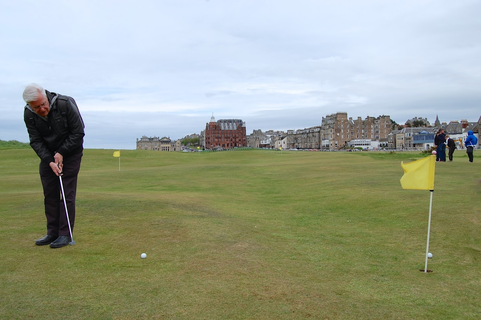 Playing mini-golf on the Himalayas in St. Andrews